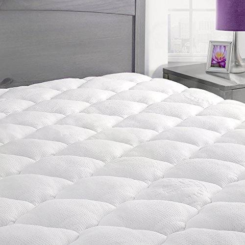 made in the usa twin extra plush cooling topper bamboo mattress pad with fitted skirt