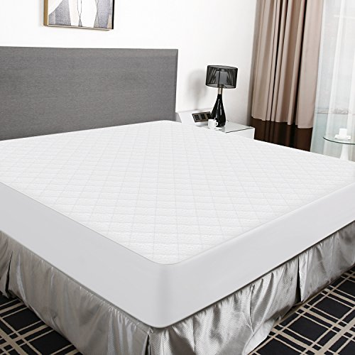 Premium Hypoallergenic Waterproof Mattress Fitted Protector Bed Cover Vinyl Free